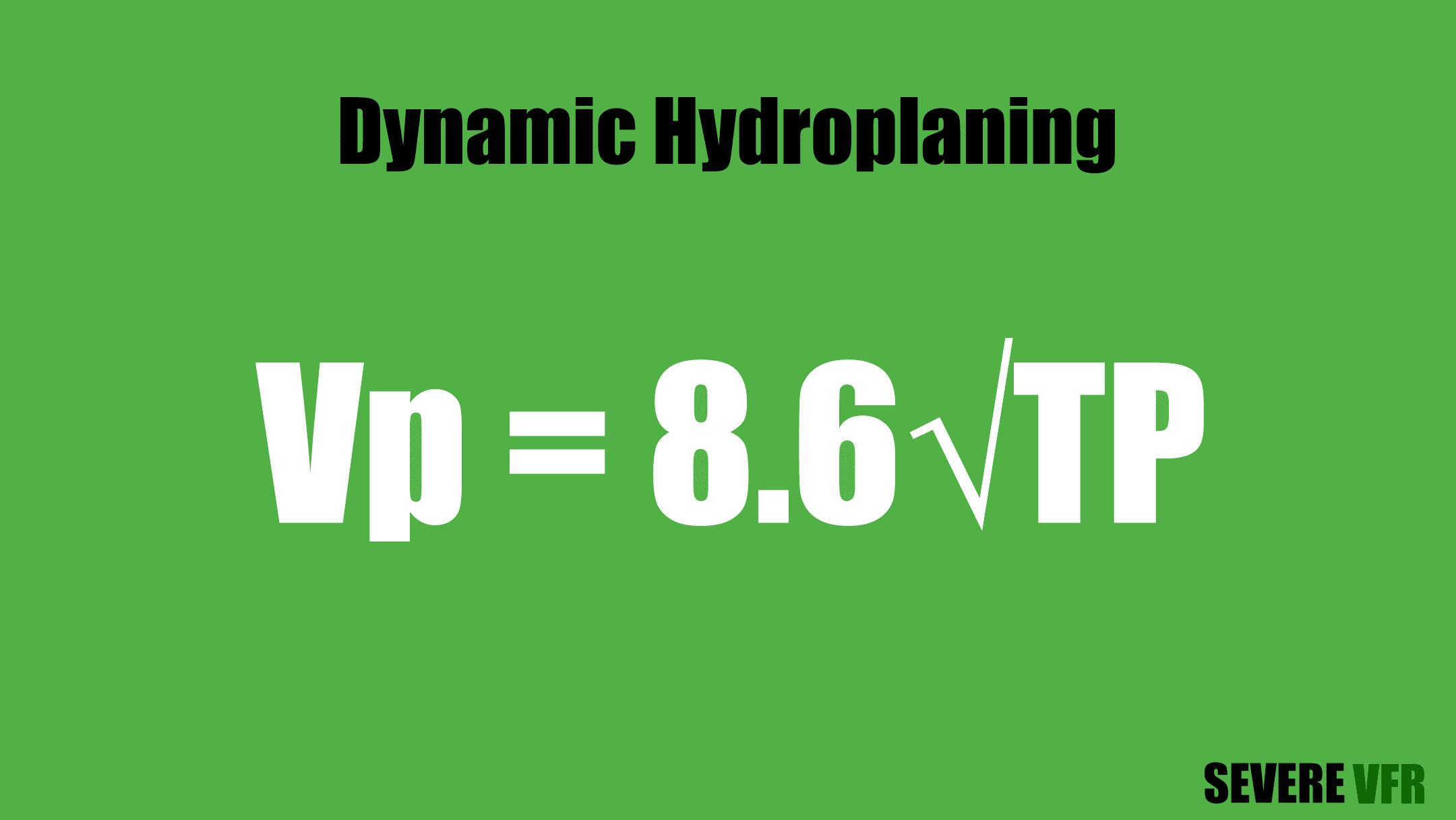 Dynamic hydroplaning equation