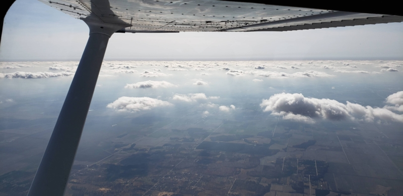 Wing View Over Haze Layer