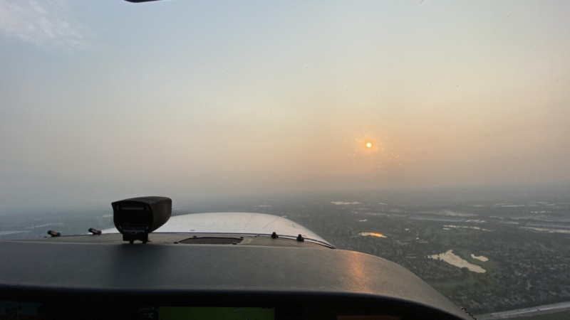 Foggy Outside Cockpit View
