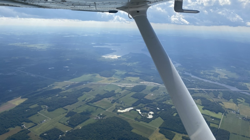 Cockpit View Over Southern Wisconsin